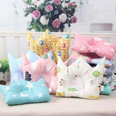 Infant Baby Kid Cute Pillow Cotton Soft Prevent Flat Head Anti Roll Neck Support