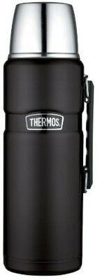 Vacuum Bottle Insulated Beverage Thermos 68 oz Stainless, Hot Cold Matte Black
