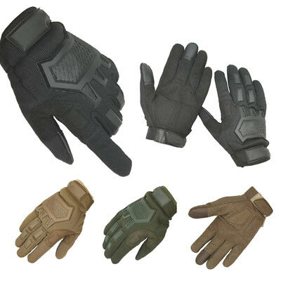 Military Army Tactical Full Finger Gloves Touch Screen Hunting Motorcycle Biker