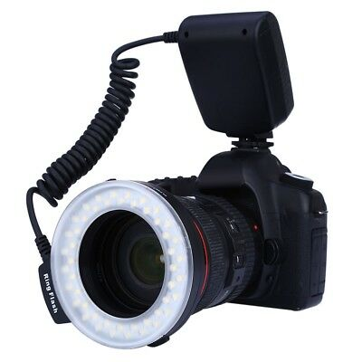 RF550 Macro LED Ring Flash with LCD Display Power for Canon Nikon DSLR Cameras