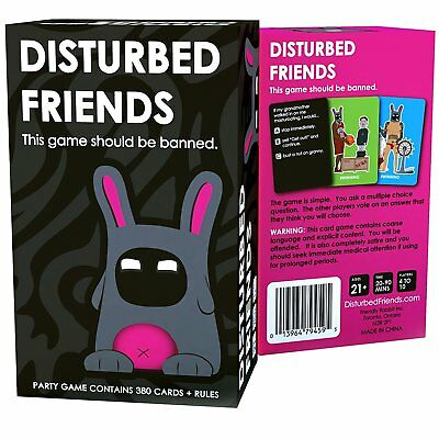 New Sealed Disturbed Friends - This Game Should Be Banned Game 380 Cards + Rules