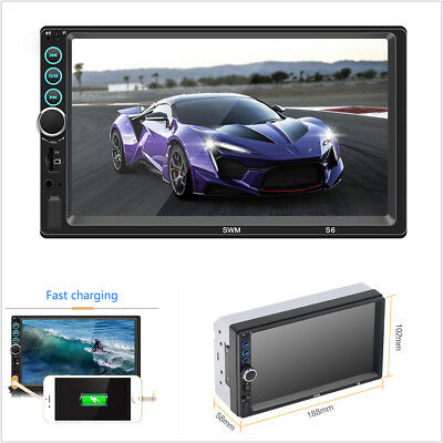 """7""""HD 2Din Car Stereo Bluetooth MP5 Player Radio Video Touch Screen FM/AUX/USB/TF"""