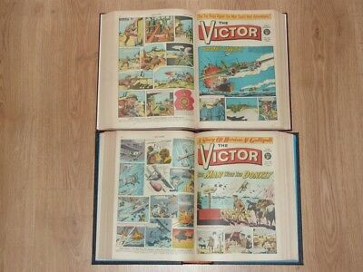 The Victor Comics - 4th Jan to 26th Dec 1964 - Full Year 2 Bound Volumes