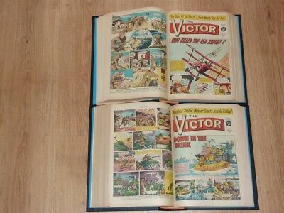 The Victor Comics - 2nd Jan to 25th Dec 1965 - Full Year 2 Bound Volumes