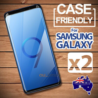 2x Samsung Galaxy S9 S8 Plus Note 8 9 S7 S5 Tempered Glass Screen Protector Film