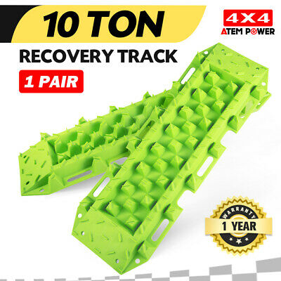 Pair Recovery Tracks Green Sand Mud Snow Grass Track 4WD 4x4 ATV CAR Offroad 10T