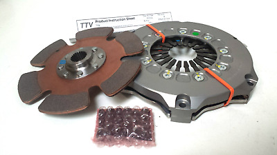 "TTV Racing 7.25"" 184mm single Plate Race Clutch 6 Paddle"