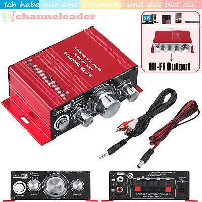 Mini HIFI Stereo Sound Verstärker Amplifier Radio Receiver Endstufe MP3 Audio DE