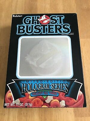 Original 1985 Ghostbusters Hologram Series Empty 11 oz Cereal Box-Ralston Purina