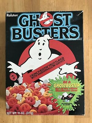 Vintage Original 1985 Ghostbusters Empty 11 Ounce Cereal Box, Ralston Purina