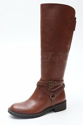 WOMENS ENZO ANGIOLINI EASAEVON Brown Leather Riding Boots Sz. 4.5 ... ee2fa87bd
