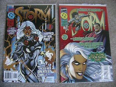 Set Of 4 Storm #1 2 3 4 Complete Series Set 1996 Marvel Comics X-Men Nm To Vf/nm