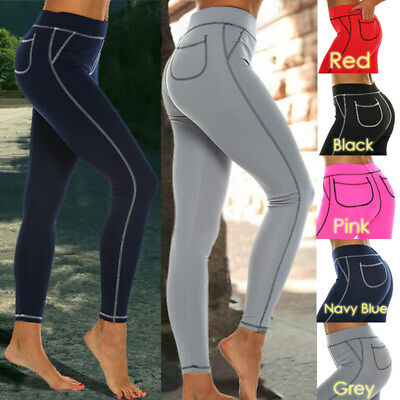 Women's Yoga Pants With Pocket Workout Leggings Outdoor Running Fitness Pants