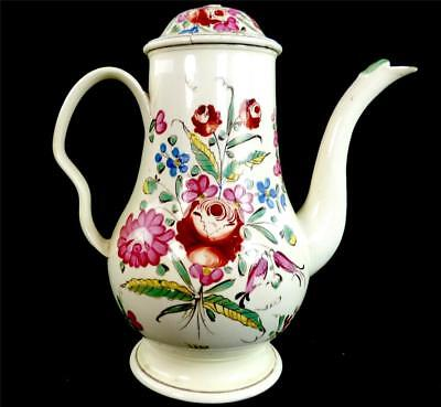 N660 Antique 18Th Century British Creamware Coffee Pot