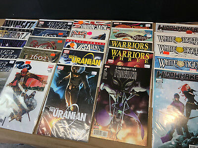 25 Marvel Comics Lot A 1602 Warriors Three White Tiger HUNGER Silver Surfer