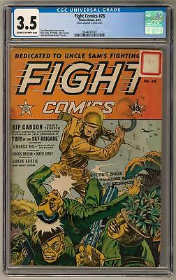 Fight Comics #26 CGC 3.5 (C-OW) Nick Cardy Art Peddy Art Dan Zolnerowich Cover