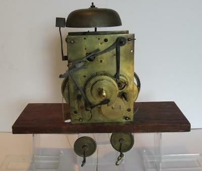 Antique Georgian c1800 Twin Weight, 8 Day, Time & Strike Longcase Clock Movement