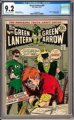 Green Lantern #85 CGC 9.2 (OW-W) Anit-Drug Issue Classic Cover