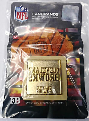 NFL FanBrands 10129 Cleveland Browns Team Logo Branding Plate Barbecue Grill