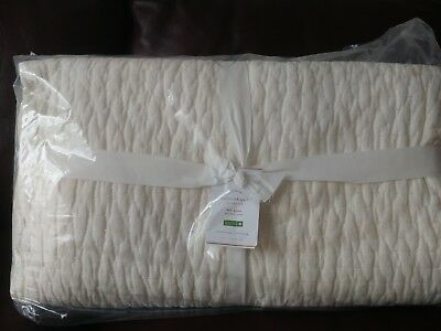 Pottery Barn Velet Pickstitch Full Queen Quilt Taupe 159 99