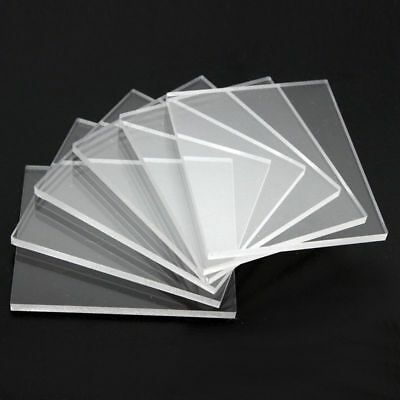 1Mm, 1.5Mm, 2Mm & 3Mm Clear Plastic Perspex Acrylic Cut Sheet A4 Size