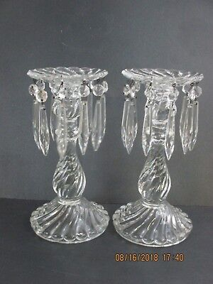 Colony Bambous Swirl Candlesticks With Prisms