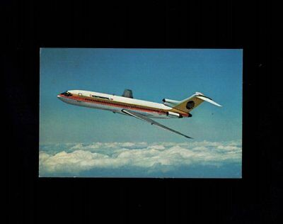 Airlines Continental Airlines Boeing 727 Trijet Postcard C. 1963 pc36