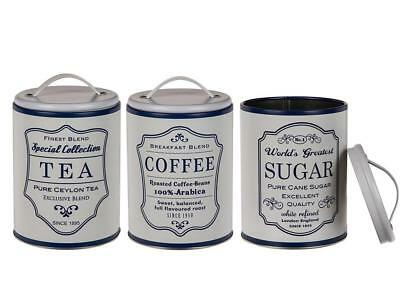 French Country Enamel Retro Kitchen Canister Off White Biscuit Time New Pure White And Translucent Home & Garden