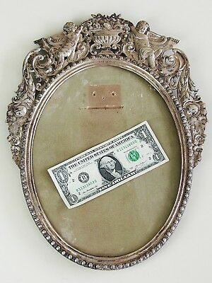 Antique Vintage German Hanau ORNATE Cherub 800 Silver Picture Frame sterling
