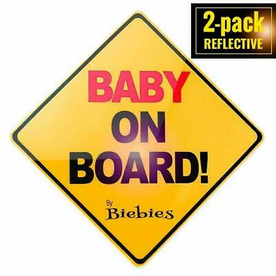 Biebies Baby on Board Safety Magnet in Your Car / Vehicle for Babies or Children