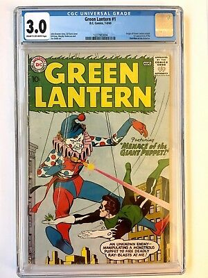GREEN LANTERN #1 CGC 3.0 Cream to Off White pages 1st App of The Guardians 1960