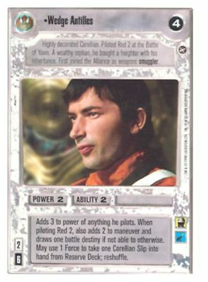 Near Mint//Mint Commander Wedge Antilles SPECIAL EDITION star wars ccg