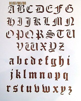 Old English Alphabet Stencil Reusable 10 mil Mylar