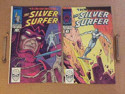 Silver Surfer 1 & 2 Moebius & Stan Lee complete set full run Marvel comic books
