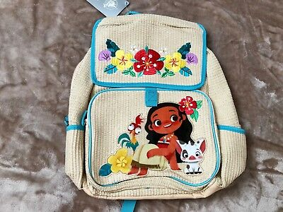 NWT Disney Store Authentic Moana Back Pack Full Size Sparkle Bling
