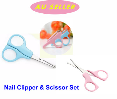 1Set Baby Nail Scissor Care Clipper Trimmer Daily Kids Nail Shell Shear Manicure