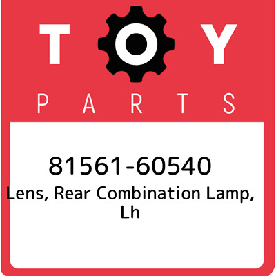 8156160540 Toyota Rr Combination Lens 81561-60540, Genuine OEM Part