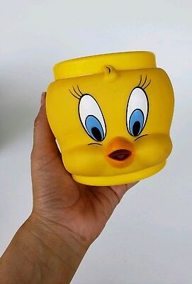 1992 Looney Tunes Tweety Bird 3D Plastic / Vinyl Mug Coffee Cup