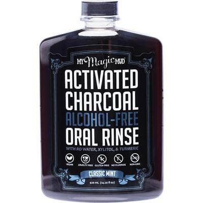 My Magic Mud Activated Charcoal Oral Rinse Natural Mouthwash Classic Mint 420ml