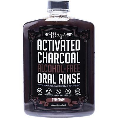 My Magic Mud Activated Charcoal Oral Rinse Natural Mouthwash Cinnamon 420ml