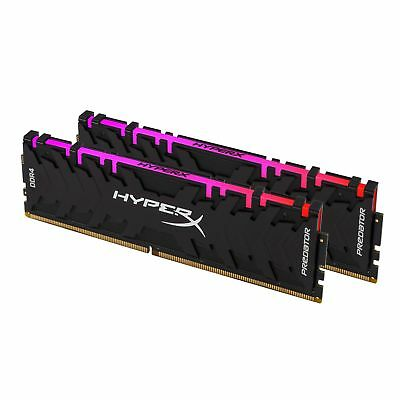 Kingston HyperX Predator RGB 16GB 2x8GB 3200MHz DDR4 Gaming Desktop Memory RAM