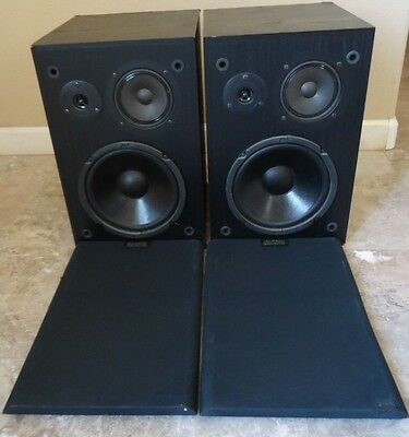 Altec Lansing 83 bookshelf speakers , See Video !