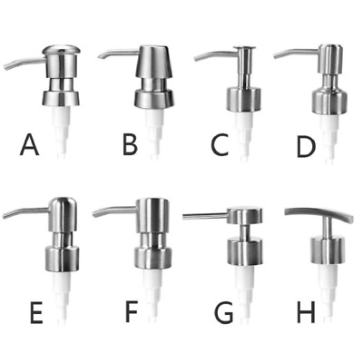 304 Stainless Steel Soap Pump Liquid Lotion Dispenser Replacement Jar Tube New