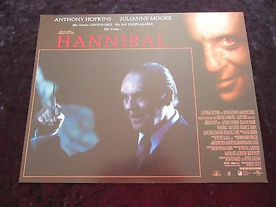 HANNIBAL lobby card # 2 ANTHONY HOPKINS, JULIANNE MOORE, SILENCE OF THE LAMBS