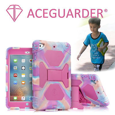 """Case For New iPad 9.7"""" 5 6th Gen 2017/2018 Kids Shockproof Heavy Duty Cover Rose"""