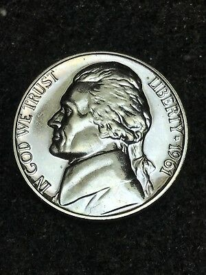 1961 5C (Proof) Jefferson Nickel Exactly Shown Outstanding Full Steps - Free S/H