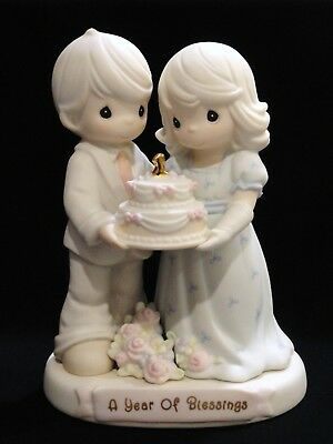 Precious Moments A Year of Blessings 163783 1st Wedding Anniversary Figurine