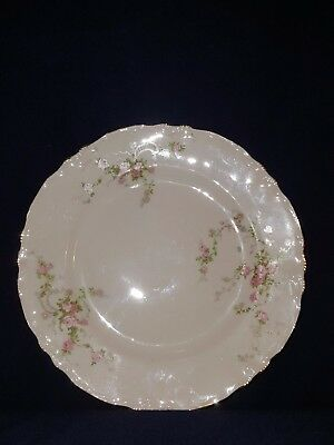 Beautiful Antique Lido W.S. George Canary tone USA 296A Floral Silver Rim Plate.