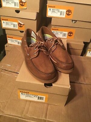 TIMBERLAND CLASSIC 2 Eye Brown Leather Boat Shoes 71024 Mens