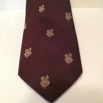 Vintage Mens Tie,Classic,Retro,Australiana,Koala Design,Brown